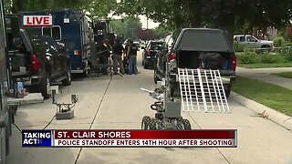 Police standoff enters 14th hour after shooting in St. Clair Shores