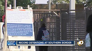 Record detentions at southern border