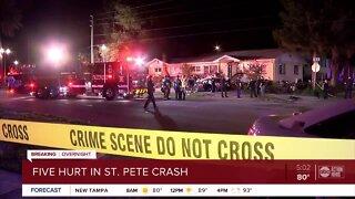 5 injured in St. Pete crash, police say