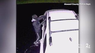 Howard County police seek car burglar