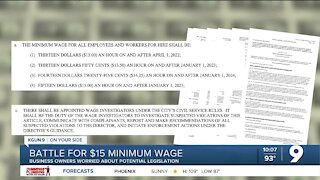 Battle for a $15 minimum wage in Tucson