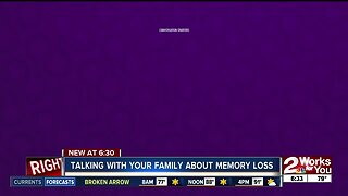 Talking with your family about memory loss
