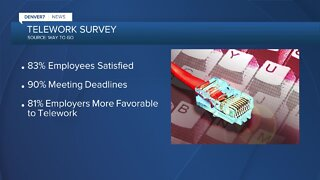 Telework survey: Most employees like working art home