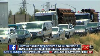 HWY 99 project continues through Bakersfield