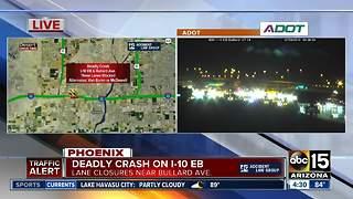 DPS investigation deadly crash on Interstate 10 in Goodyear