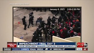 Impeachment Trial Day 3: House impeachment managers continue opening arguments