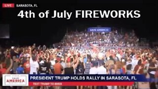 4th of July 2021 TRUMP RALLY FIREWORKS
