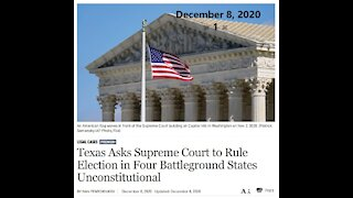 Texas Ask Supreme Court To Do The Right Thing For Our Country