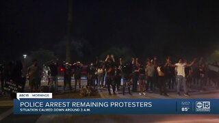 Third night of protests in downtown Phoenix