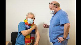 Sir Ian McKellen receives the coronavirus vaccine