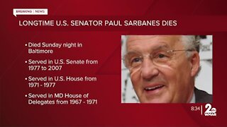 U.S. Senator Paul Sarbanes dies