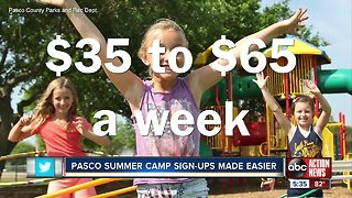 Pasco County summer camps to start online registration