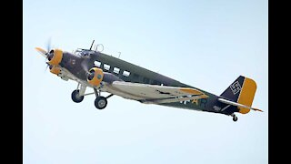 JU-52 flying at Military Aviation Museum 2020