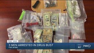 THree men arrested in drug bust
