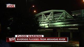 Riverside flooded from Arkansas River