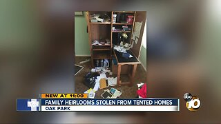 Family heirlooms stolen during fumigation break-ins