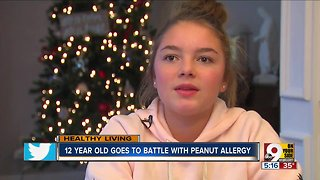 12-year-old battles peanut allergy with experimental treatment