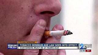 Tobacco minimum age law goes into effect