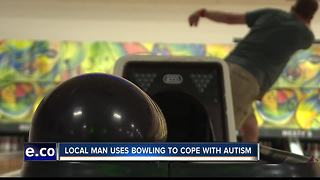 Idaho man bowls to cope with Autism
