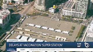 Reactions cause delays at vaccination 'super station'