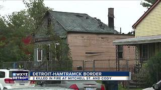 Two found dead after house fire on Detroit/Hamtramck border