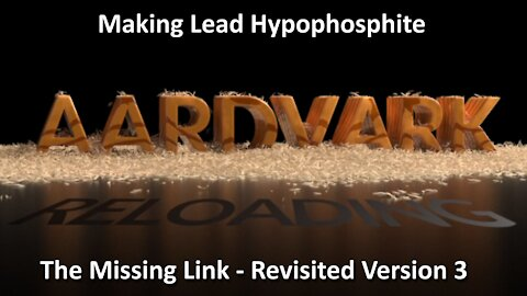 How to make lead hypophosphite revisited Version 3.1