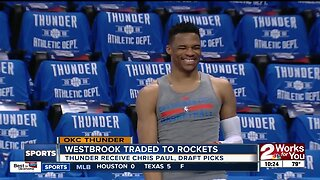 OKC Thunder trade Russell Westbrook to Houston Rockets for Chris Paul and Draft Picks