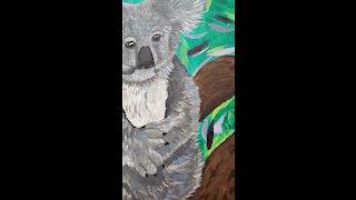 """""""Sweet Baby"""" Koala Acrylic Painting"""