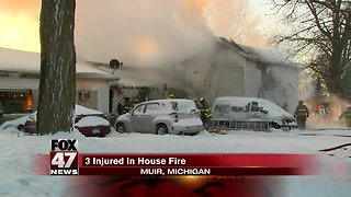 Crews battle sub-zero temps while fighting a house fire