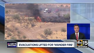Evacuations lifted for Wander Fire