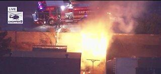 Fire near US 95 and Charleston | Breaking news