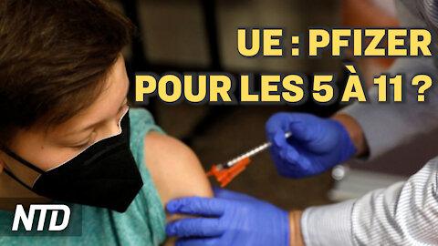 """L'UE évalue les vaccins de Pfizer pour les enfants de 5-11 ans; Royaume-Uni : """"pas de confinement"""""""