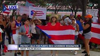 Protest calls for Puerto Rico Governor resignation