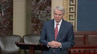 TV ads pressure Sen. Portman to support President Biden's American Rescue Plan