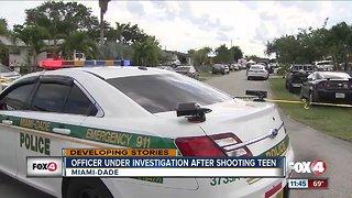 Officer under investigation after shooting teen