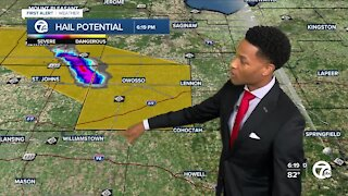 Tracking storms, some severe