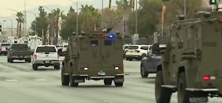Shootout with police in Las Vegas