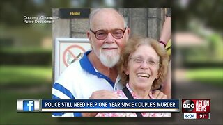 One year later: Authorities still searching for answers in murder of elderly Clearwater couple