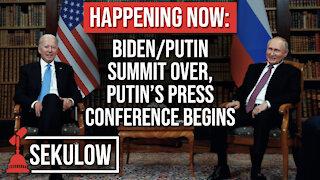 HAPPENING NOW: Biden/Putin Summit Over, Putin's Press Conference Begins