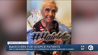 Healthcare worker spreads joy with makeovers for hospice patients