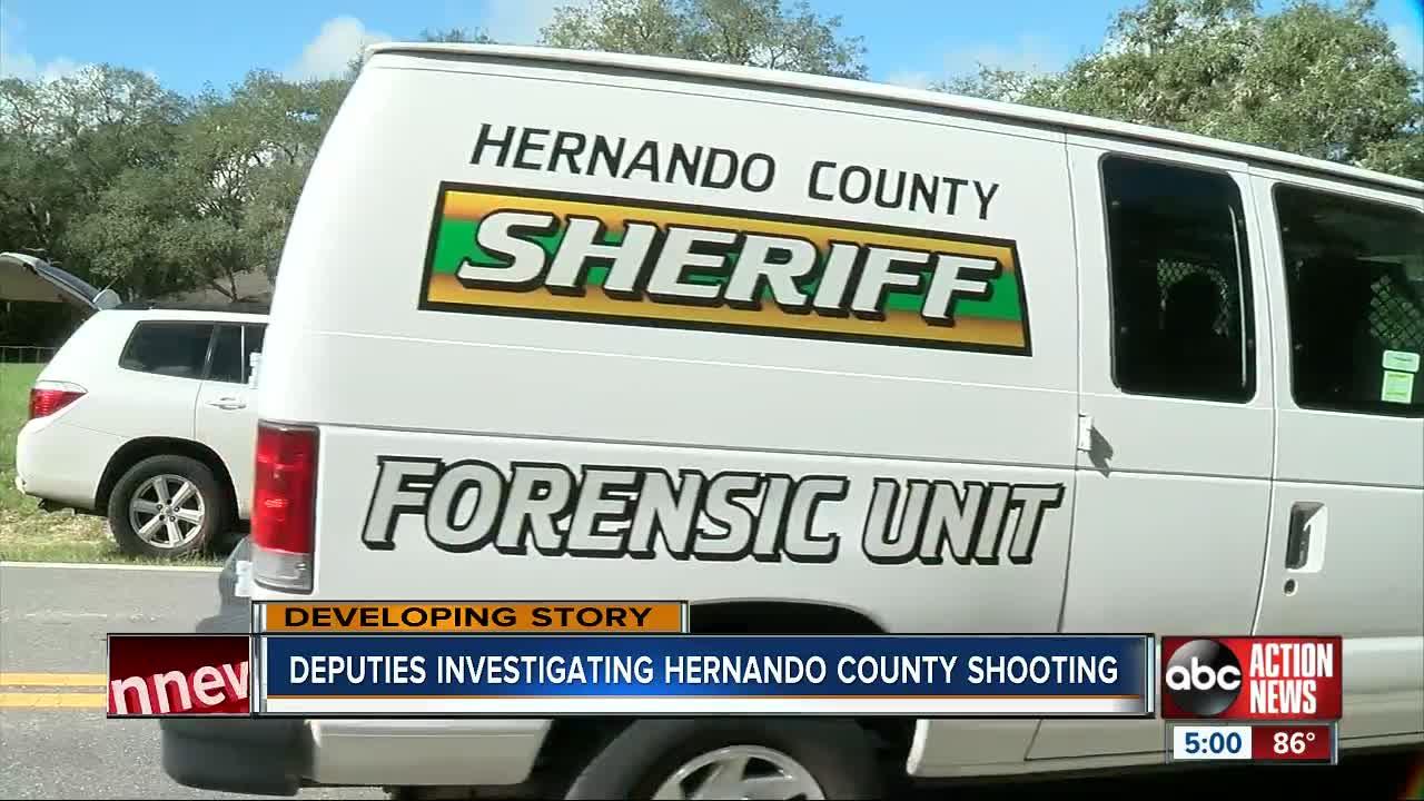 Hernando County deputies investigate shooting