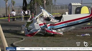 Small passenger plane crashes near Montgomery Field, two passengers injured