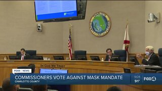Charlotte County Commissioners vote no to mask ordinance