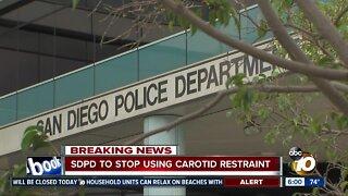 SDPD to stop using carotid restraint
