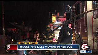 Elderly woman killed in north side house fire