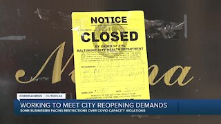 Some businesses facing restrictions over COVID capacity violations