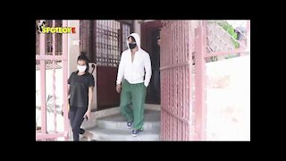 Disha Patani and Tiger Shroff snapped at a dubbing studio | SpotboyE