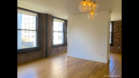 Downtown Los Angeles Historic Core Loft Condo Corner Unit with Views and Covered Parking $1,975 😍