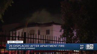 Dozens displaced after west Valley apartment fire