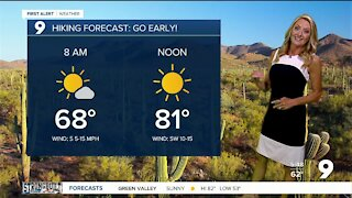 Breezy and slightly cooler to start the week